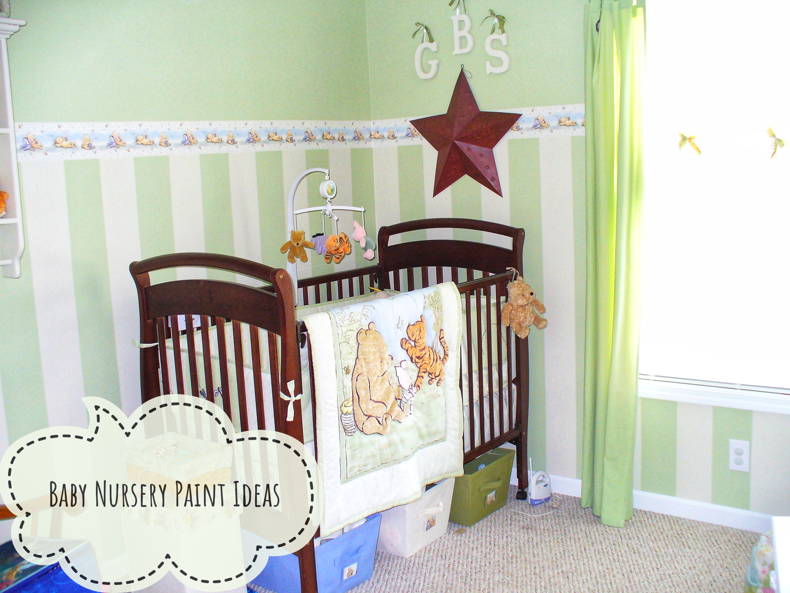 Baby Nursery Paint Ideas, Nursery Stripes