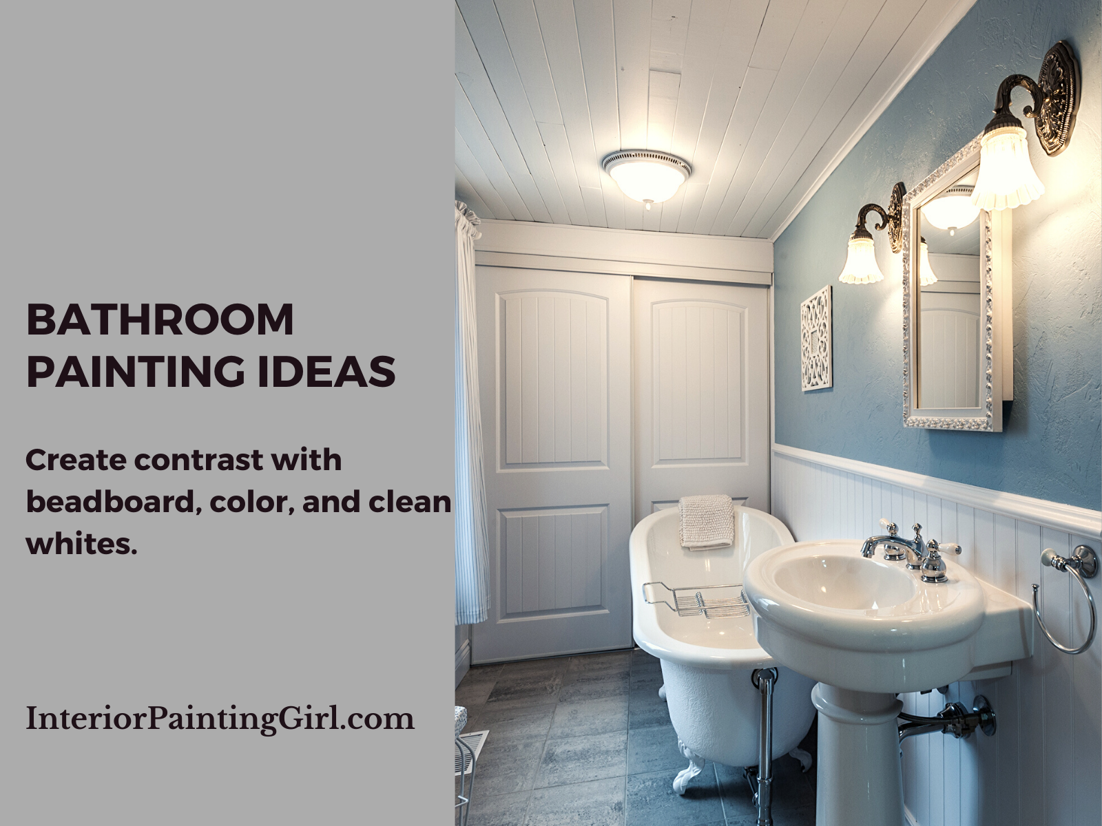 Bathroom Painting Ideas - Beadboard