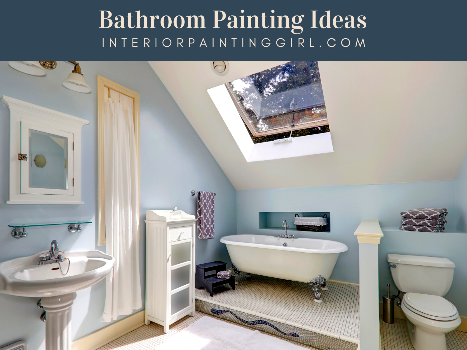 Bathroom Painting Ideas - Sandy & Nautical Themes - THAT Interior Painting Girl