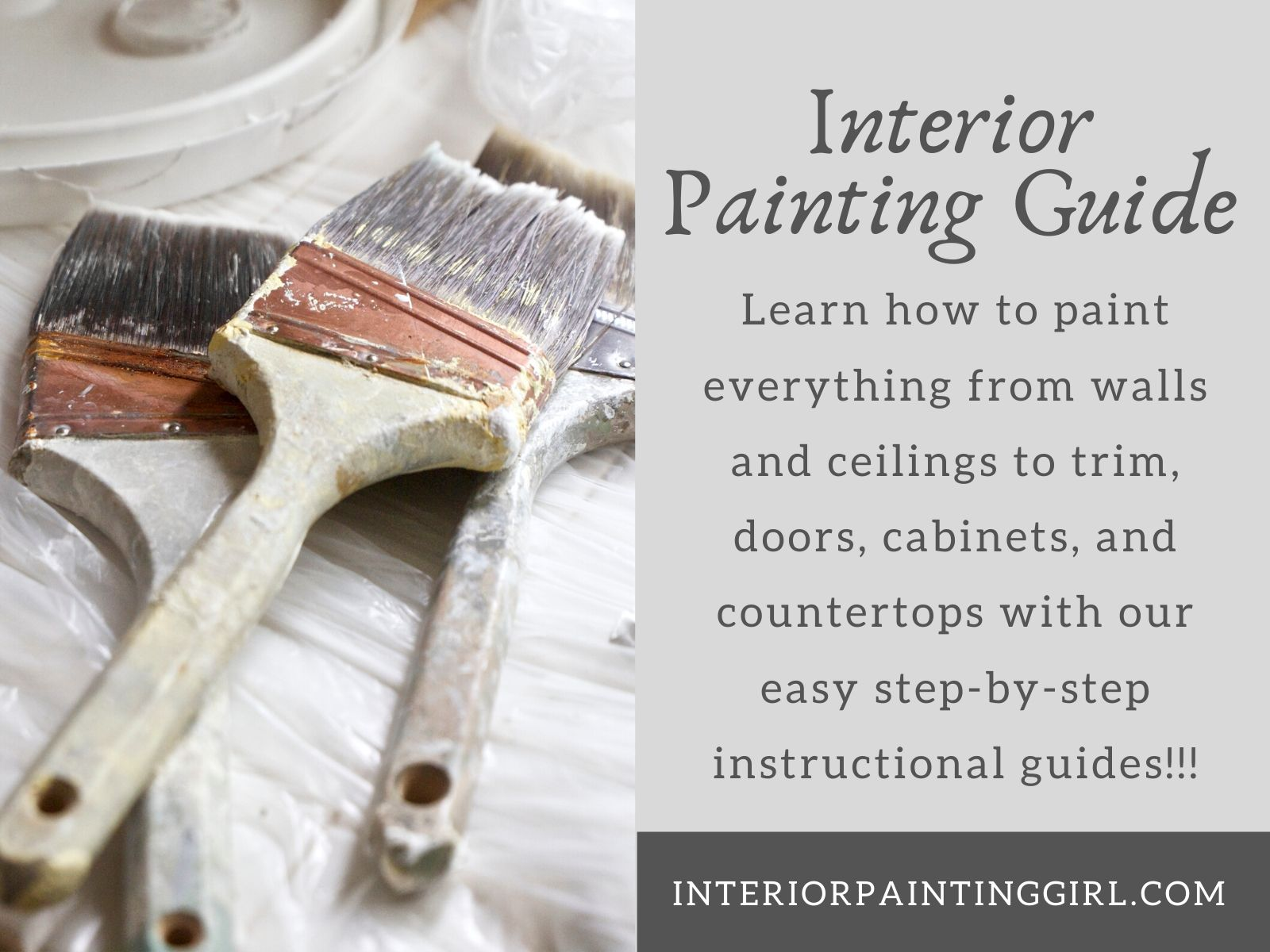 Learn from our step-by-step interior painting guides for everything from walls & ceilings to cabinets!
