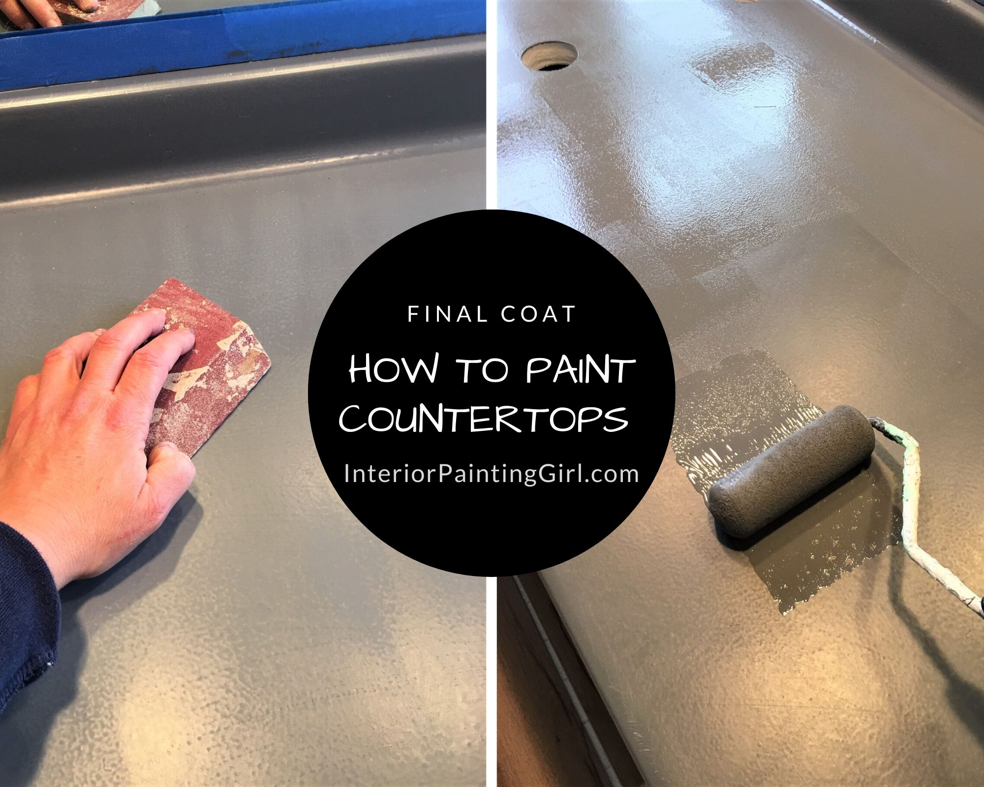 How To Paint Countertops - A Step-by-Step Guide from That Interior Painting Girl!